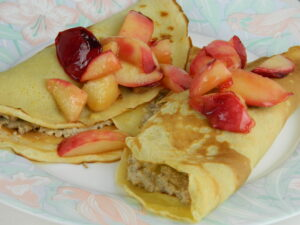 pancakes with nutty filling