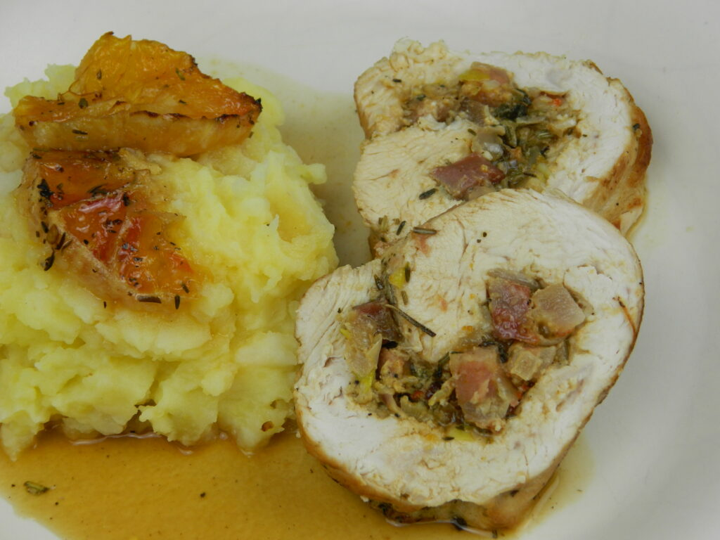Turkey Roll with Celeriac Mash