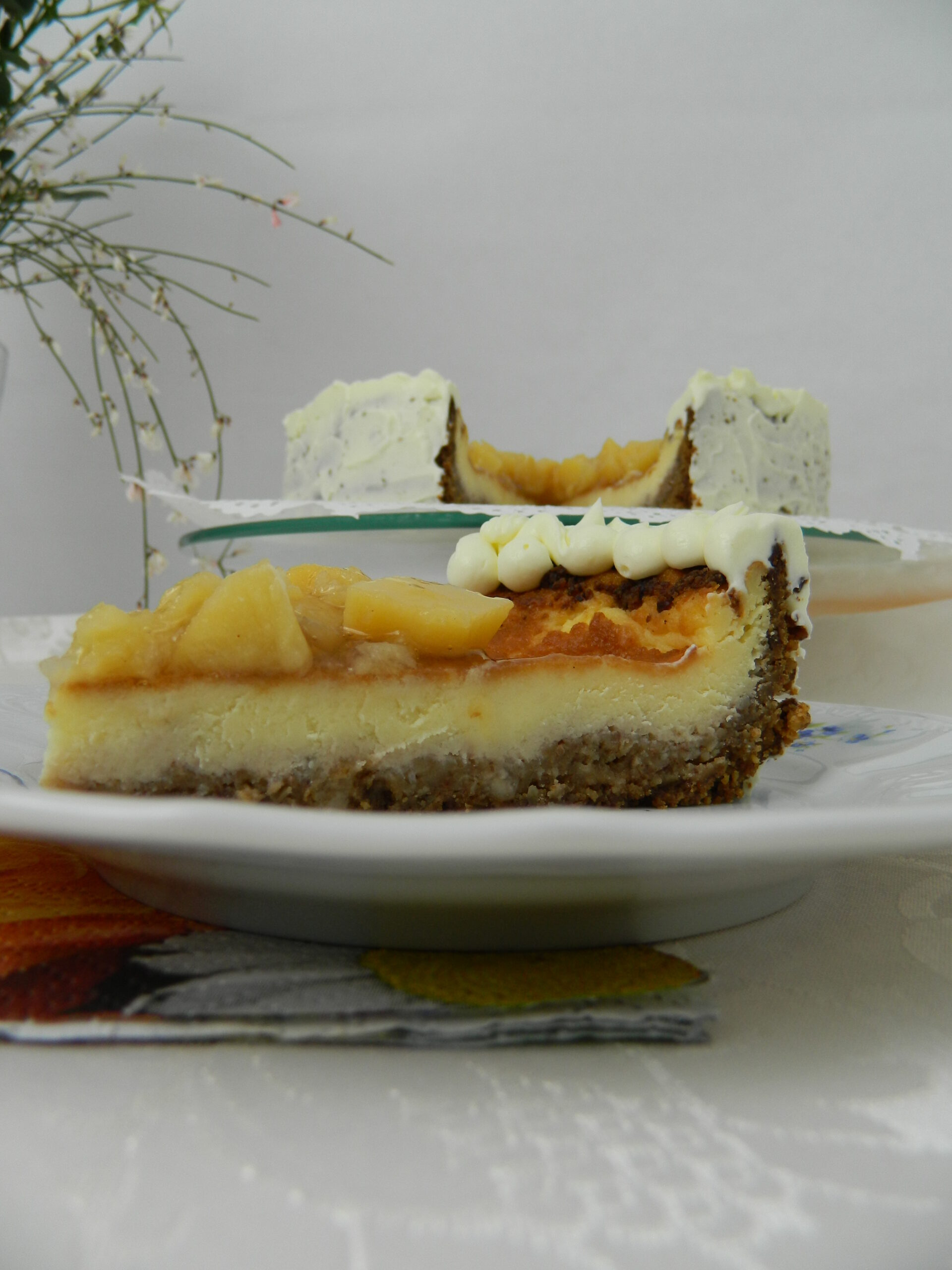 Pecan and Quince Cheesecake