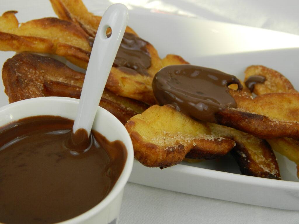 Carnival - Cinnamon Churros with Whiskey Cardamom Chocolate