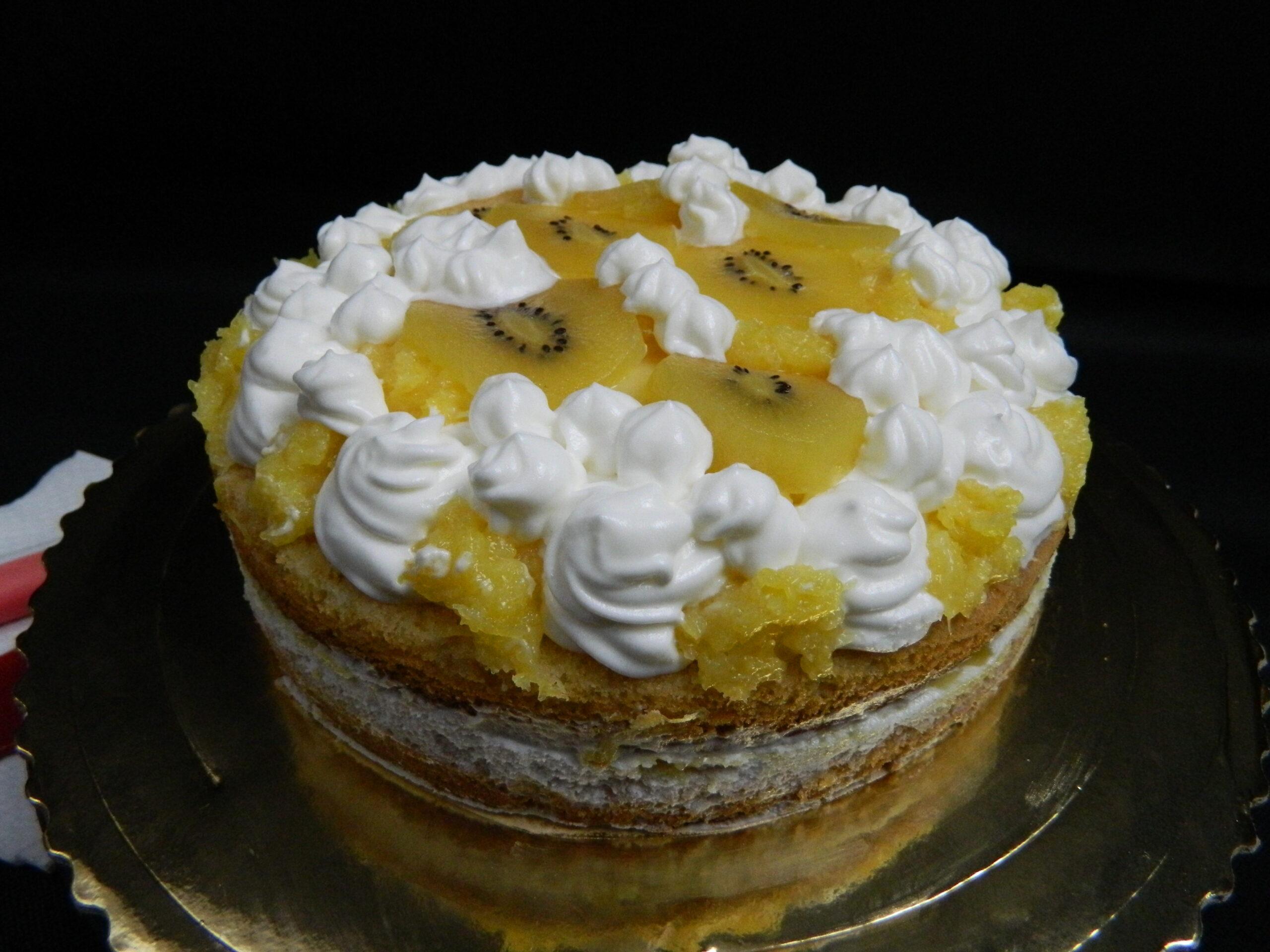 Mango Curd Sponge Cake