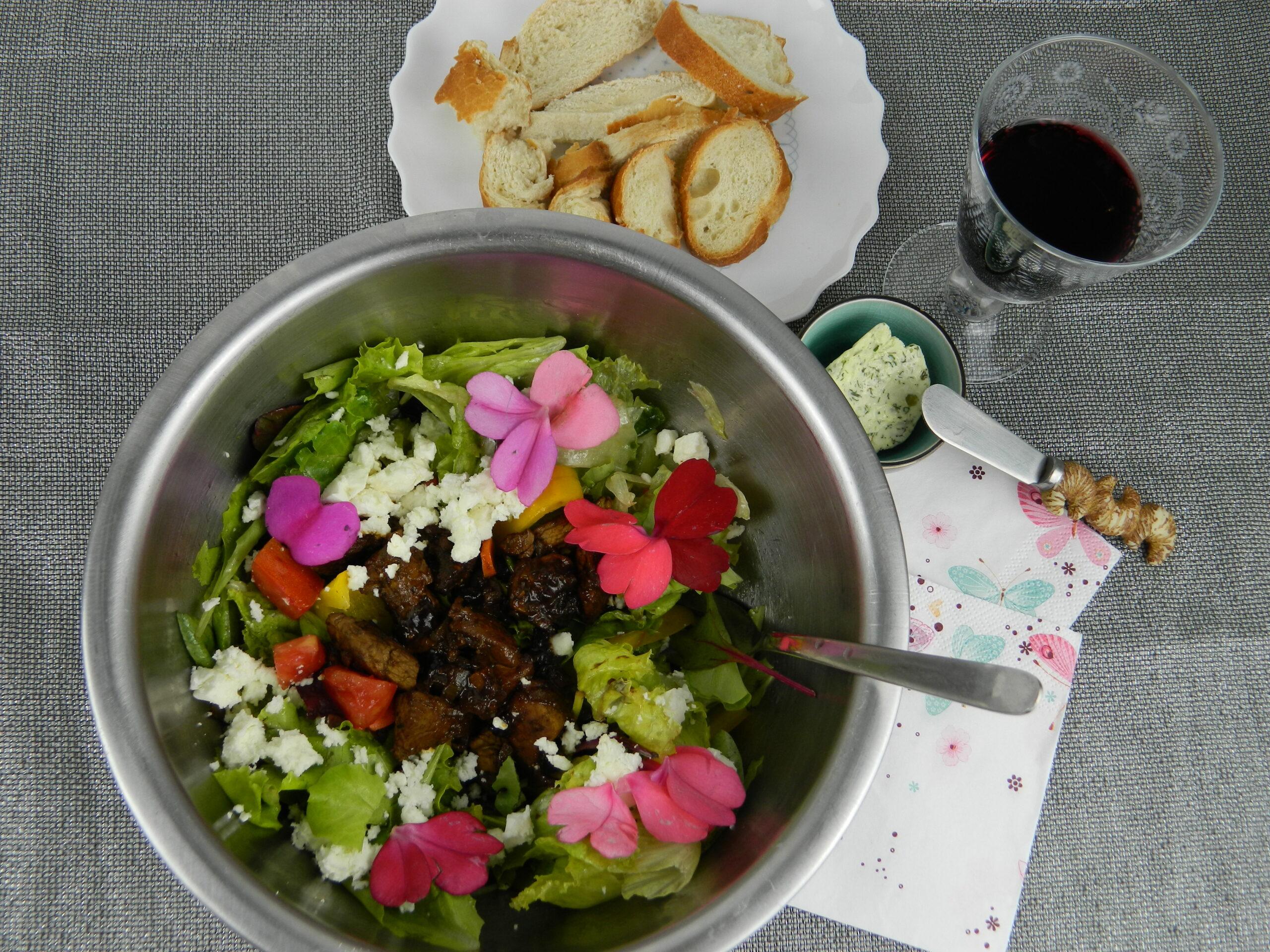 Flowery Chicken Salad