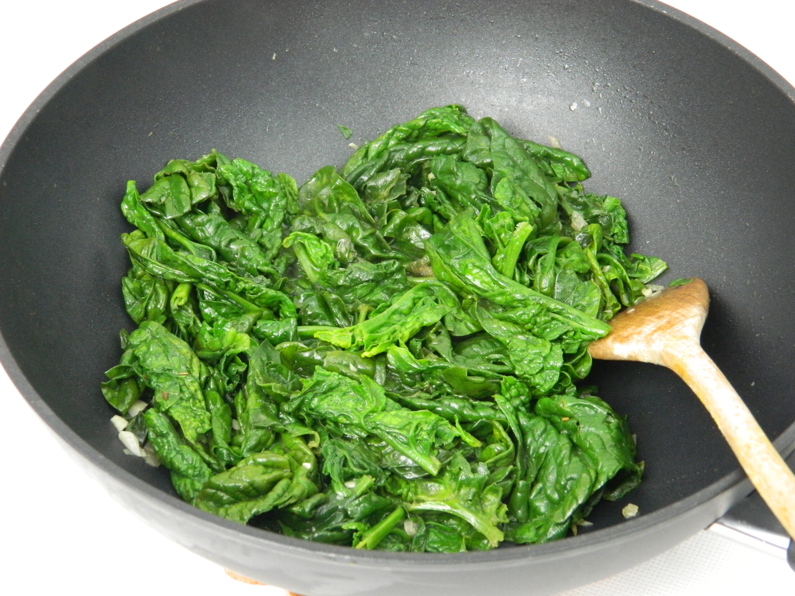 Fresh Spinach with Parmesan Potato Mash
