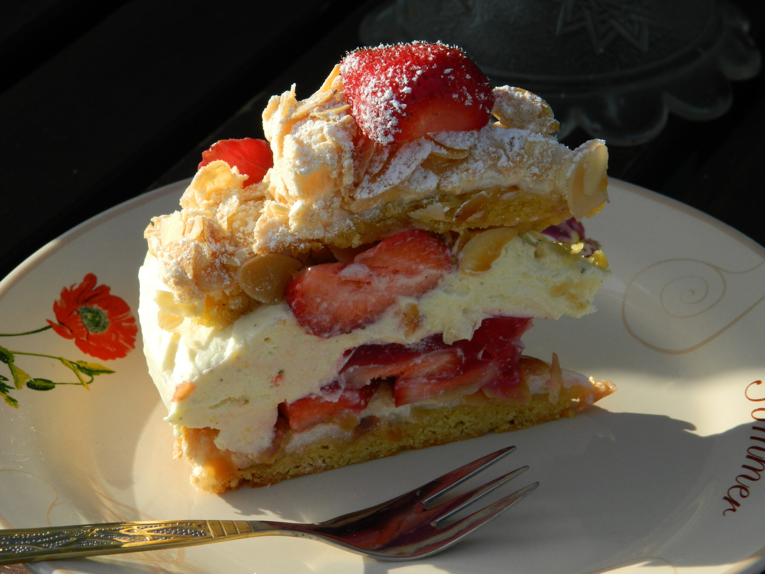 Strawberry Pudding Tart
