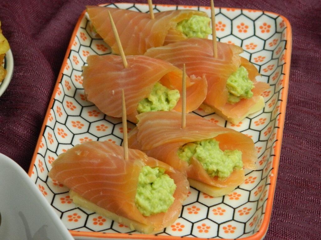 Smoked Salmon Rolls with Avocado