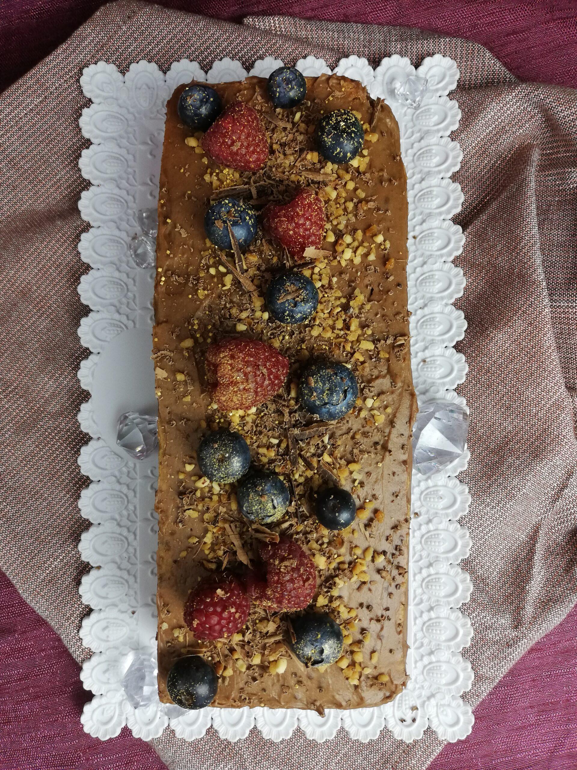 Smooth Walnut Cake With Fruits