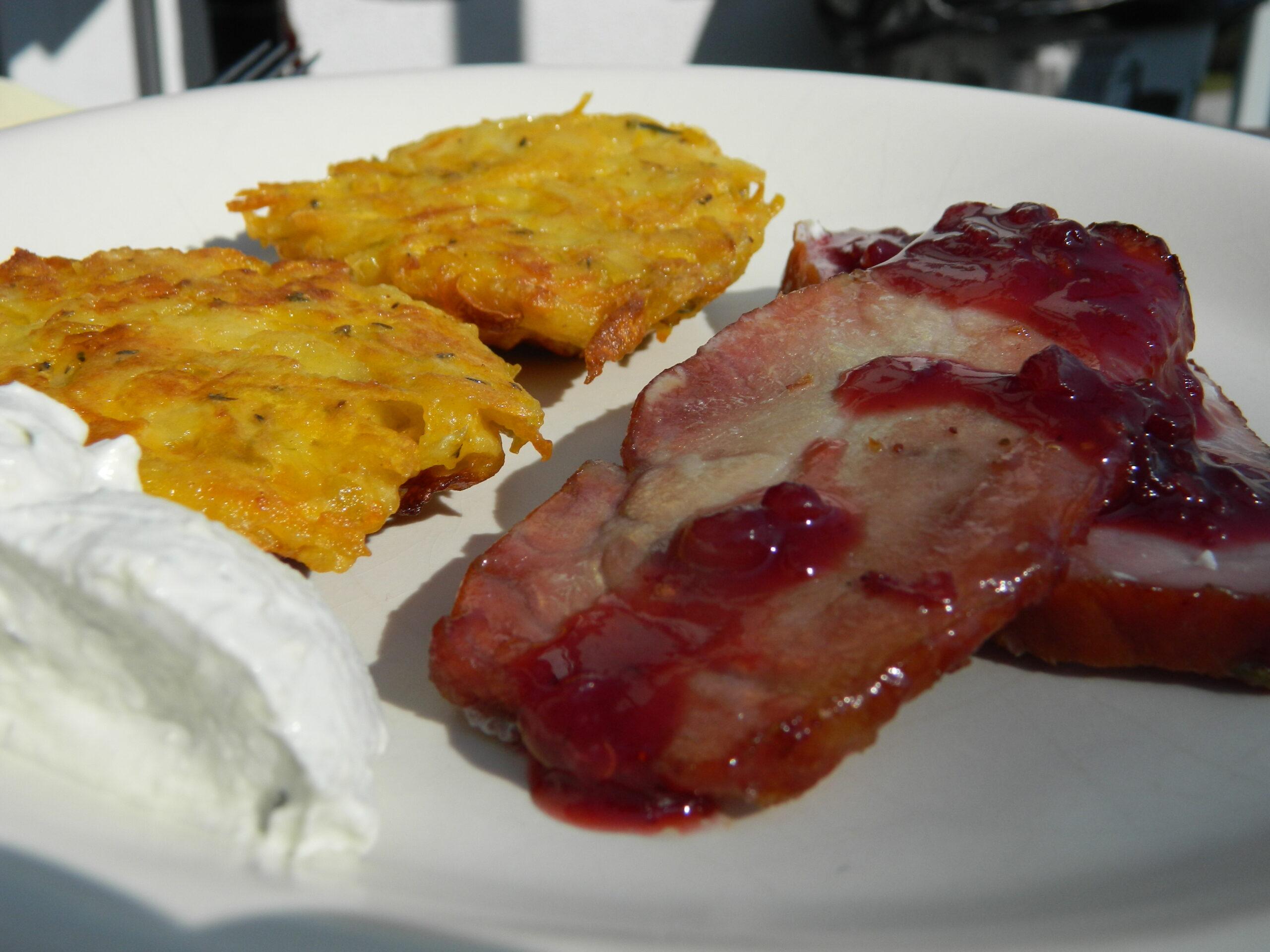 glazed smoked ham